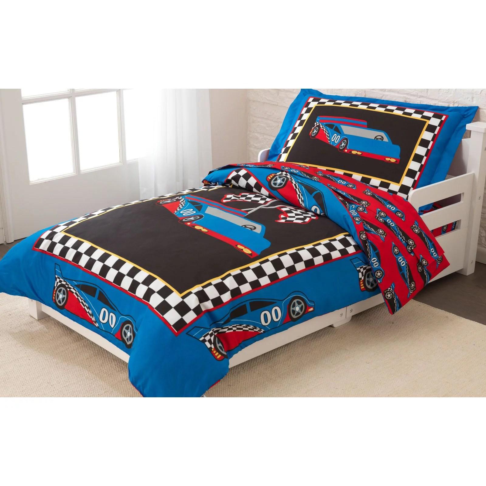 racecar toddler bedding 4 pc set walmart com