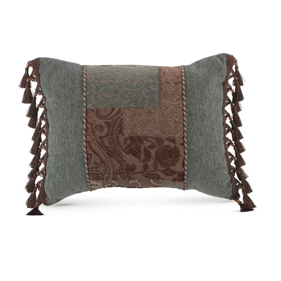 croscill galleria brown boudoir pillow