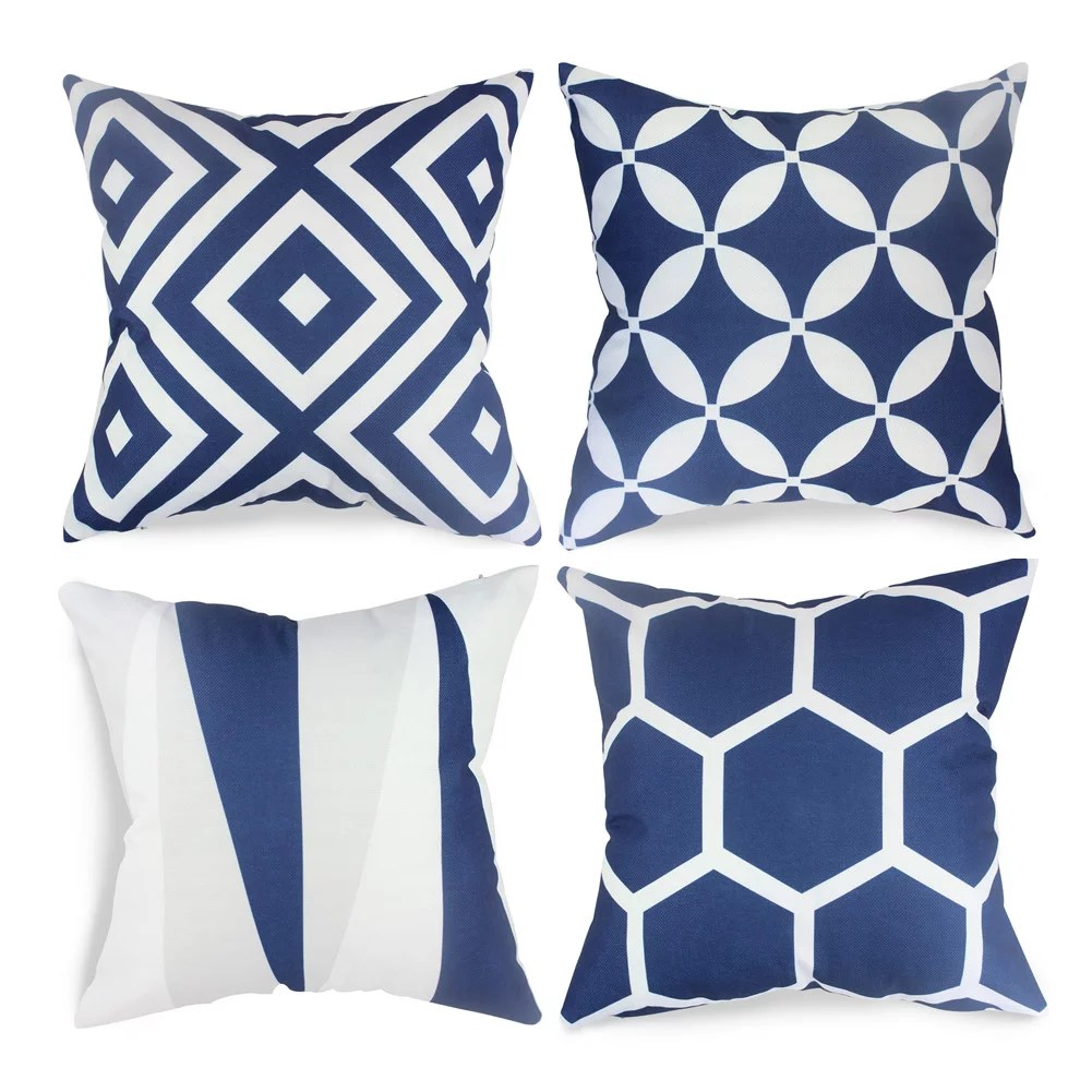 fabricmcc set of 4 geometric pillow covers decorative couch throws cases cushion covers 18 x 18 for living room