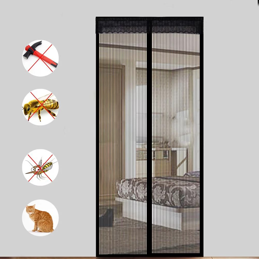 lace magnetic mesh screen door magic instant magnet screen door net curtain automatic bug off door screen with super strong velcro and magnets fits