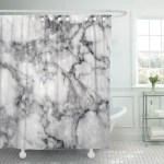 Pknmt Gray Black White Marble Pattern High Resolution Effect Abstract Polyester Shower Curtain 60x72 Inches Walmart Com Walmart Com
