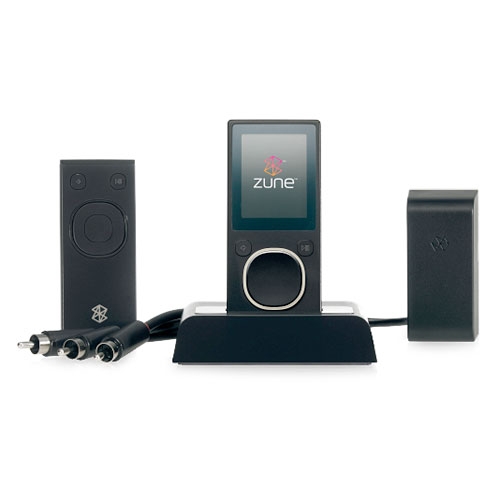 The Zune Home AV Pack provides everything you need to amplify your Zune through your home entertainment system.