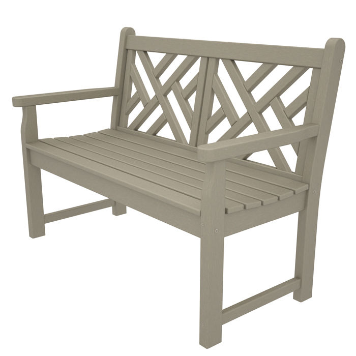 chippendale 48 inch outdoor bench
