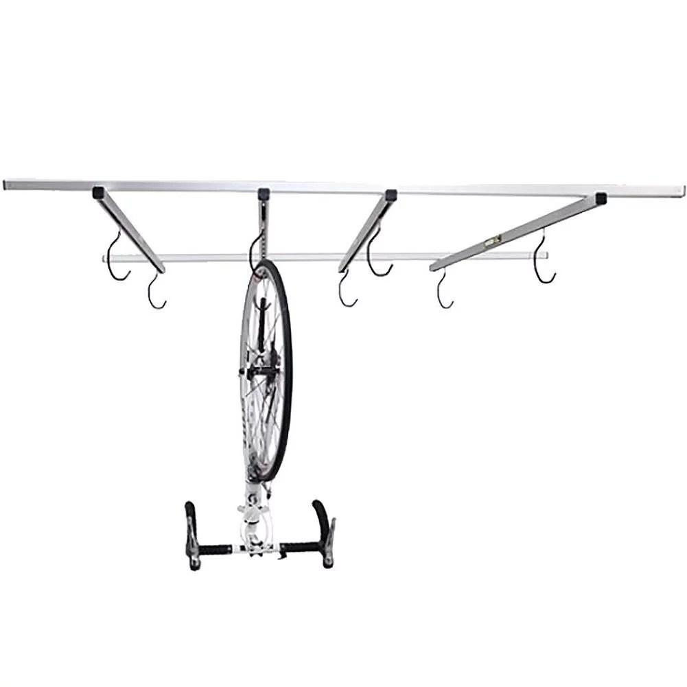 saris cycling 6020 indoor cycleglide garage ceiling mounted bike rack storage