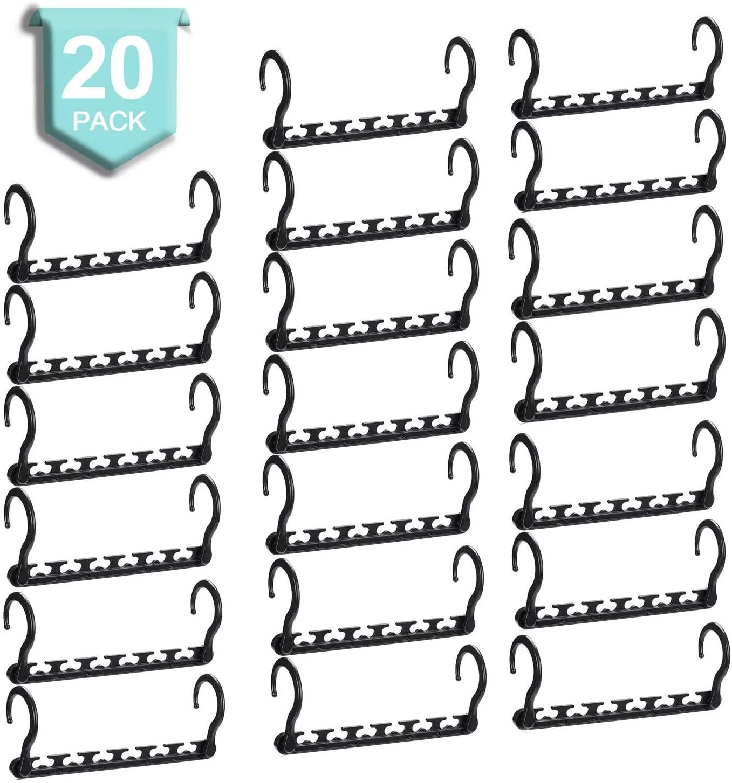 Smartor Sturdy Plastic Space Saving Hangers Pack of 20 ... on Closet Space Savers Walmart  id=74240