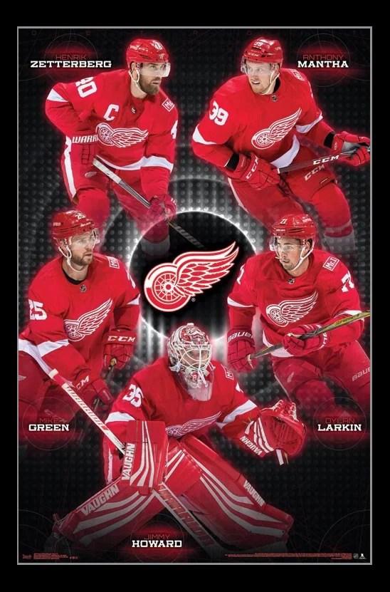 detroit red wings team laminated poster print 22 x 34 walmart com