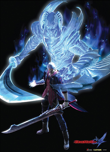 fabric poster devil may cry 4 new nero devil trigger wall scroll art ge77670