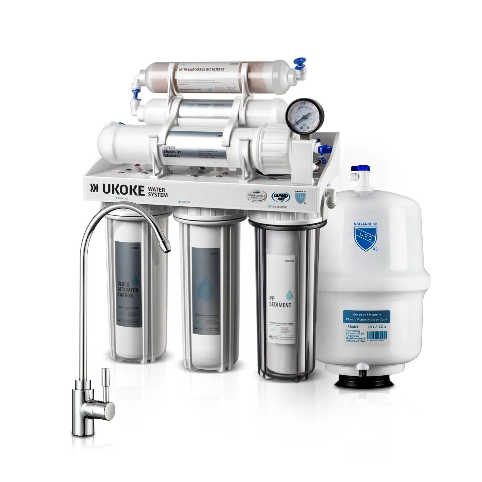 Ukoke 6 Stages Reverse Osmosis Water Filtration System 75 Gpd Walmart Com Walmart Com