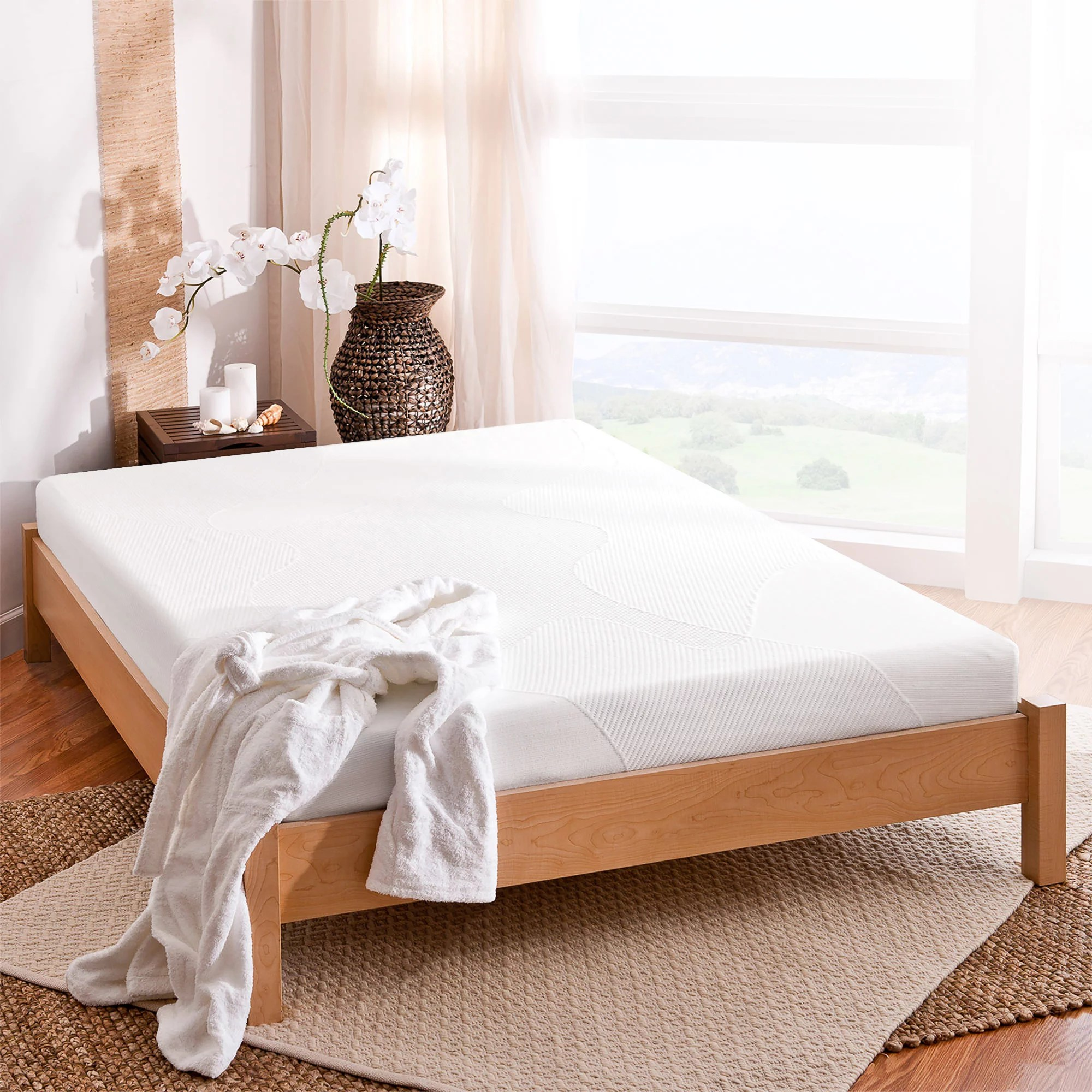 Mainstays is sold exclusively at walmart. spa sensations by zinus 8 comfort memory foam mattress twin
