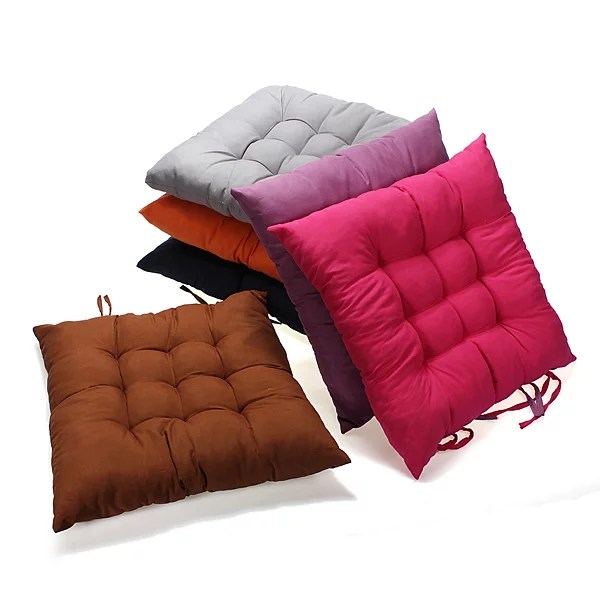 15x15 inch anti slip soft square cotton chair seat cushion pillow mat pads buttocks for kitchen chairs home office decor