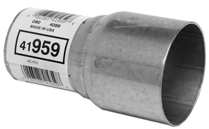 walker exhaust 41959 exhaust pipe adapter 2 1 2 inch inlet outside diameter 2 inch outlet outside diameter 4 1 2 inch length