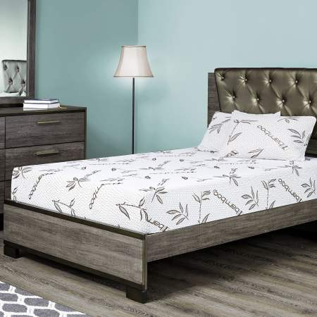 Fortnight Bedding 8 Inch Gel Memory Foam Mattress With Bamboo Cover Cot Size 30x74 For