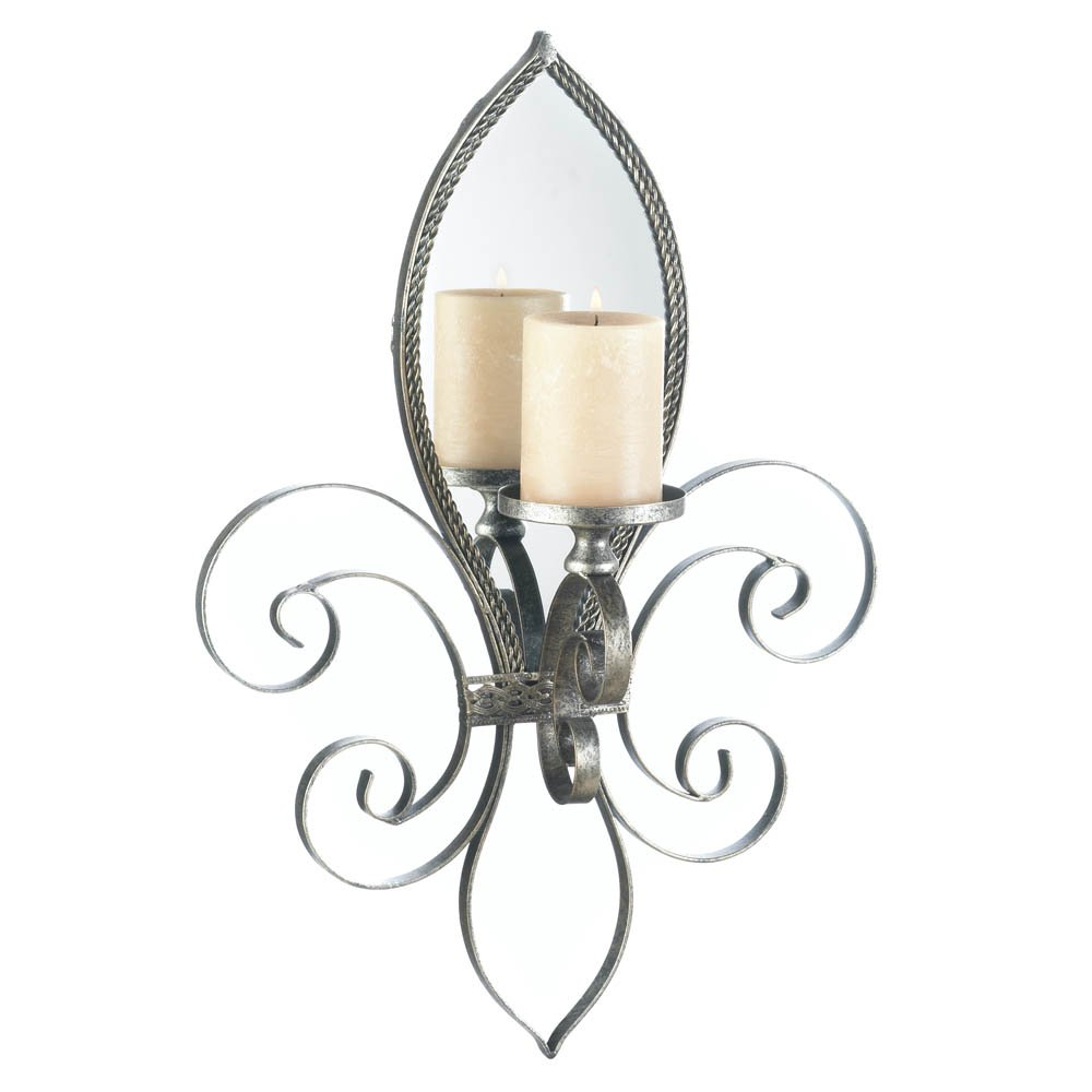 Sconce Candle, Mirrored Decorative Indoor Wall Sconce ... on Decorative Wall Sconces Candle Holders Chrome id=37531
