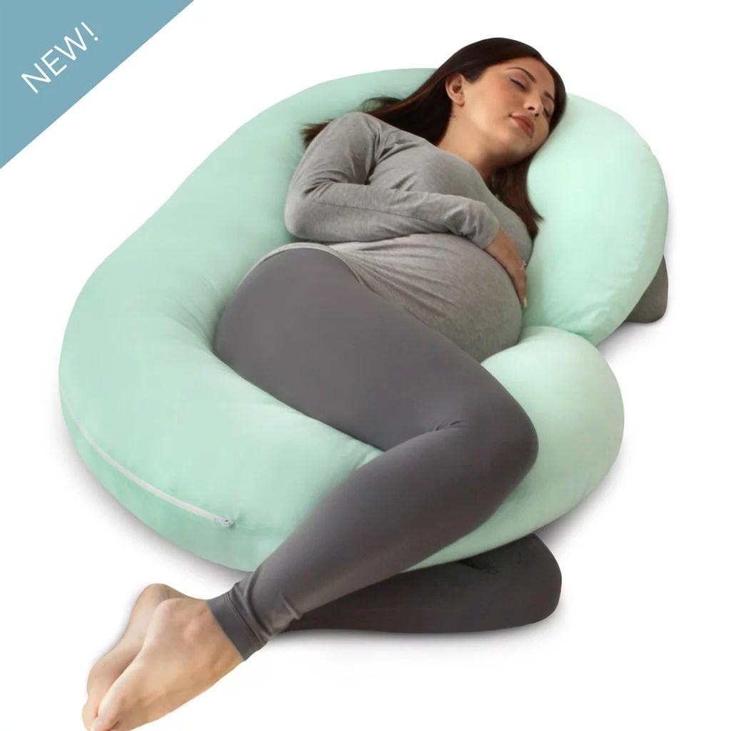 c shaped pregnancy pillow