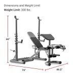 Weider Xrs 20 Adjustable Olympic Workout Bench With Independent Squat Rack And Preacher Pad Walmart Com Walmart Com