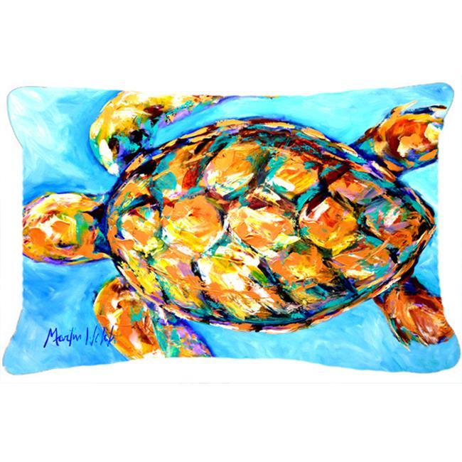 carolines treasures mw1150pw1216 12 x 16 po coussin d coratif en tissu sand dance turtle int rieur et ext rieur