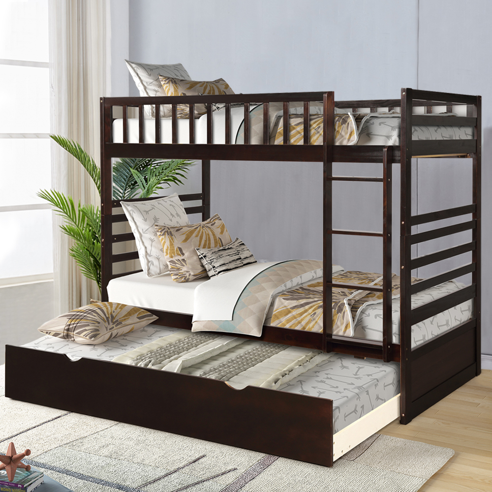 clearance twin over twin bunk bed with trundle wood bunk on walmart bedroom furniture clearance id=73799