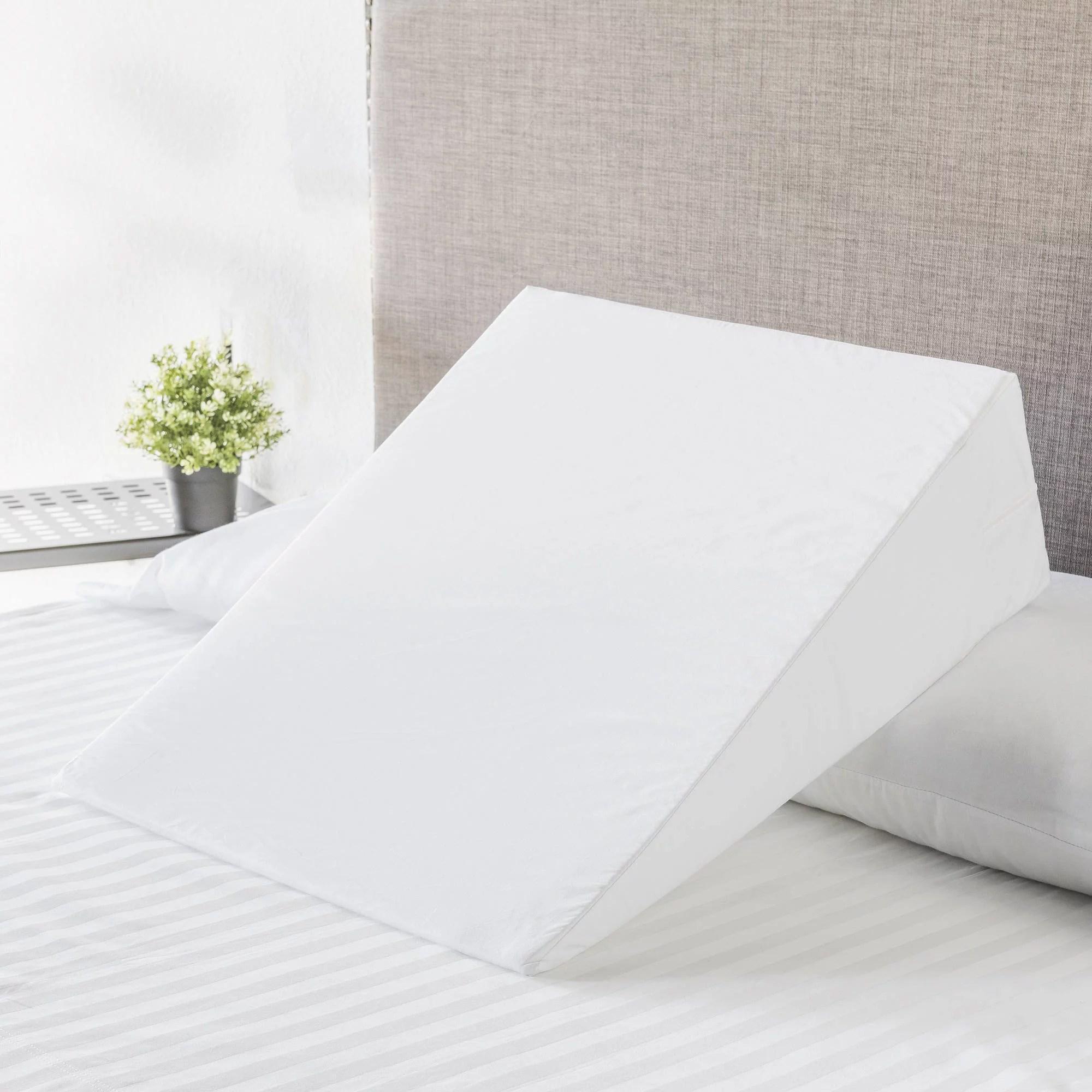 mainstays foam bed wedge pillow 1 each walmart com