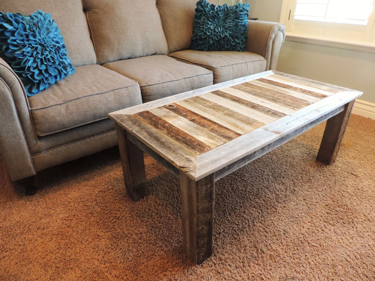 allbarnwood rustic reclaimed wood coffee table solid natural barnwood living room tables farm style cocktail set shabby chic country farmhouse