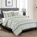 3 Piece Southwestern Bedding Print Comforter Set Multicolor Light Teal Mint Green White Queen Size Comforter Western Bedding Set Design Molly Walmart Com Walmart Com