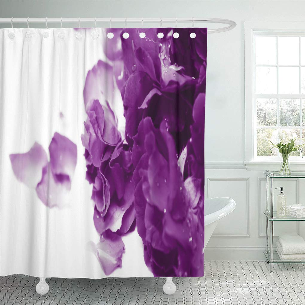 suttom natural light and shadow in vintage of blur purple shower curtain 60x72 inch