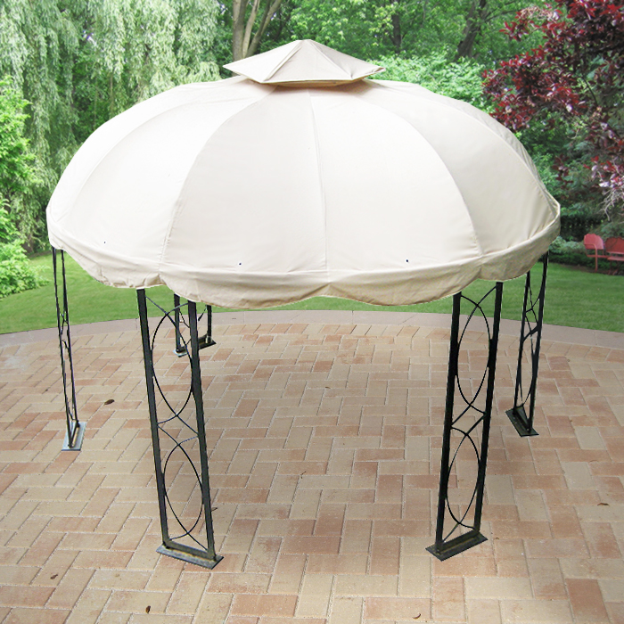 garden winds replacement canopy top for the lowes 12ft round gazebo walmart com