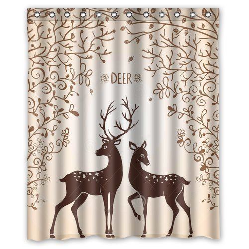 mohome deer shower curtain waterproof polyester fabric shower curtain size 60x72 inches walmart com