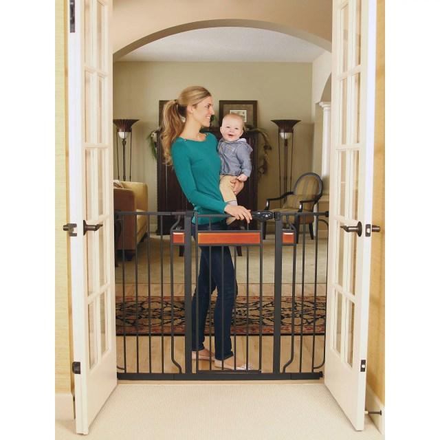 Regalo Home Accents Extra Tall Walk Thru Gate Hardwood And Steel Walmart Com