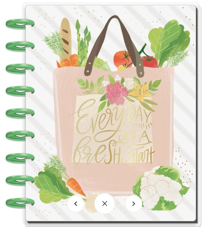 The Happy Planner Classic Planner, Undated, Foodie Recipe Planner Is 2021 The Year Of A Brand New You- Simply Butterfly Kisses