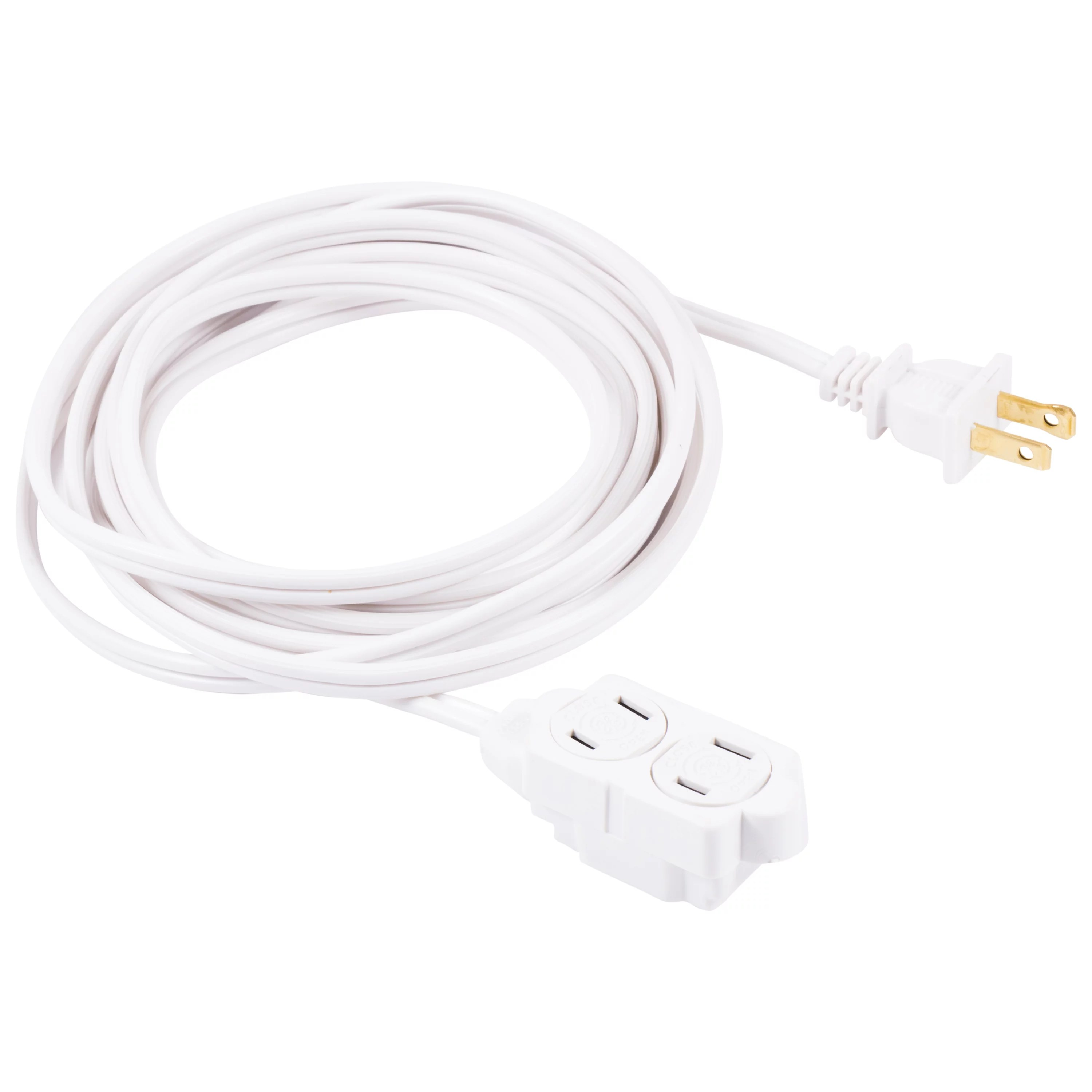 Ge 3 Outlet 12ft Indoor Extension Cord Safety Outlet