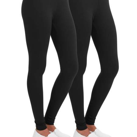 54c7ccaeba609 Walmart: Faded Glory Women's Essential Legging, 2-Pack $6.50