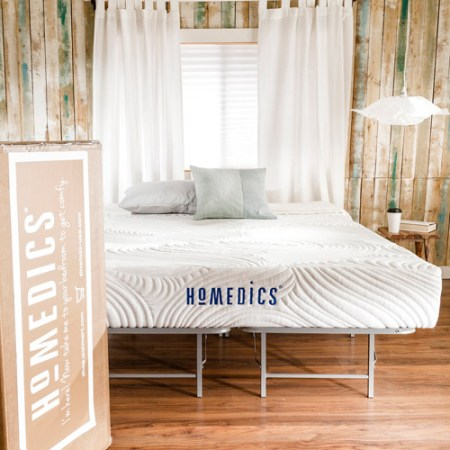 Homedics Revive 9 Gel Memory Foam Mattress And Bed Frame Set Multiple Sizes