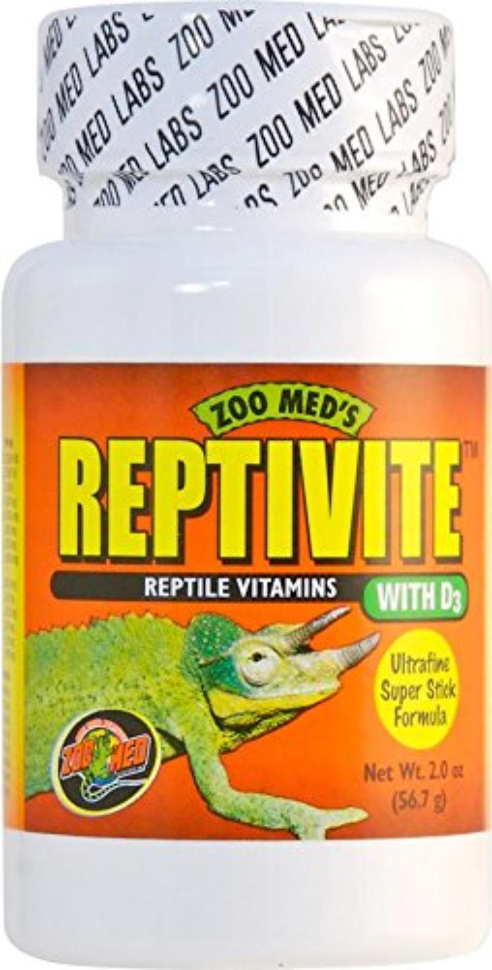 Reptivite, with Vitamin D3, 2-Ounce, Ultra fine super stick formula By Zoo Med