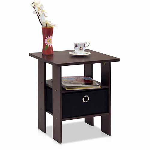 furinno andrey end table night stand with bin drawer multiple colors