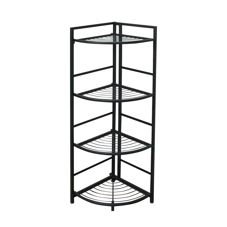 Flipshelf Folding Metal Shelf No Assembly Bookcase Style