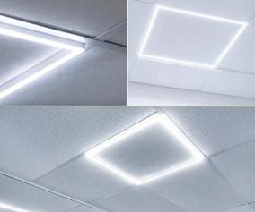 Luxrite 2x2 Ft Slim Frame Led Edge Light 40w 6500k Daylight White Dimmable 4000 Lumens Modern Drop Ceiling Panel Light 100 277v Grid Light Panels Ul Listed Walmart Com Walmart Com