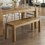 Dining Table Bench Rustic Brown Kitchen Furniture Farmhouse Gift Modern New Ebay