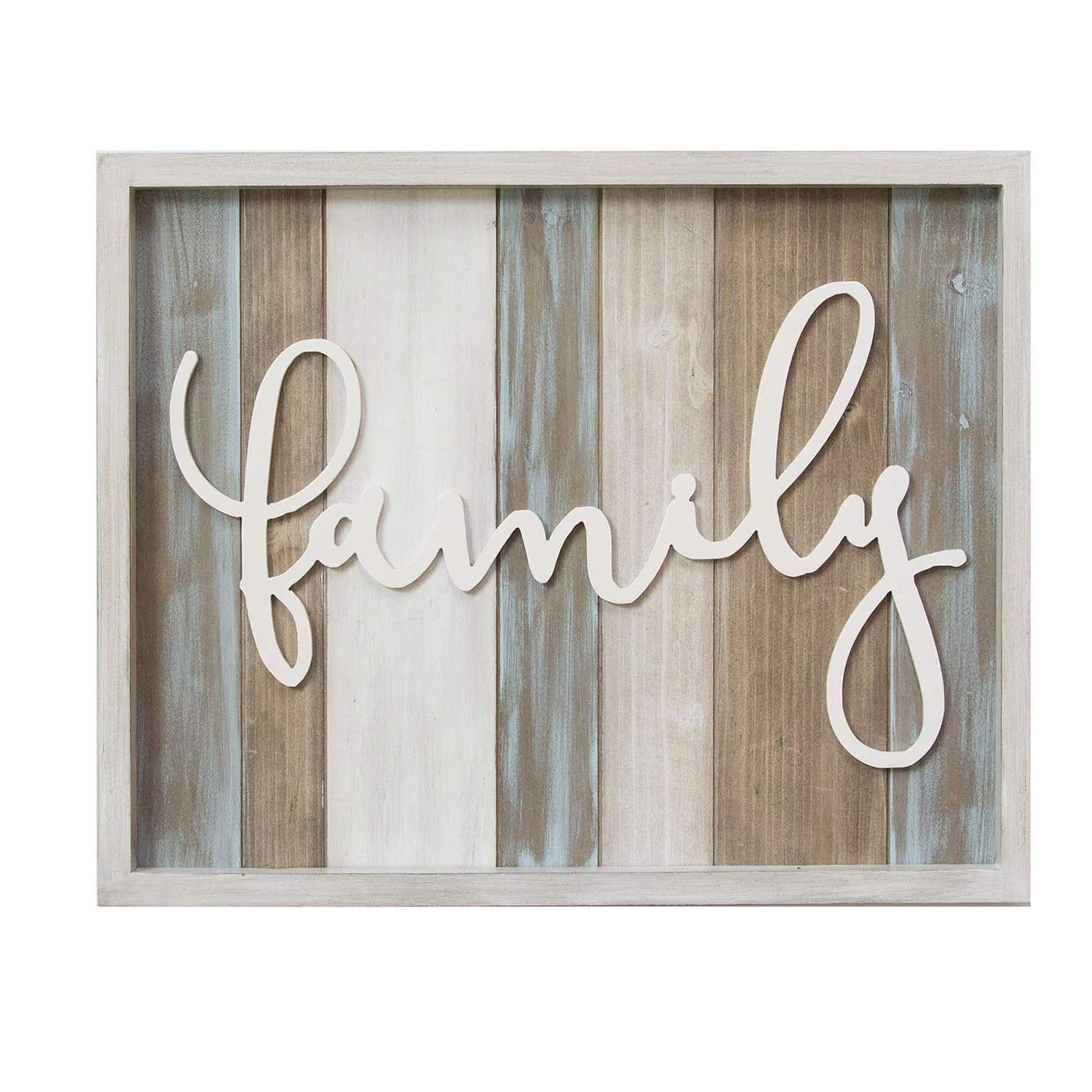 """Stratton Home Decor Rustic """"family"""" Wood Wall Sign Décor ... on Home Wall Decor Signs id=24494"""