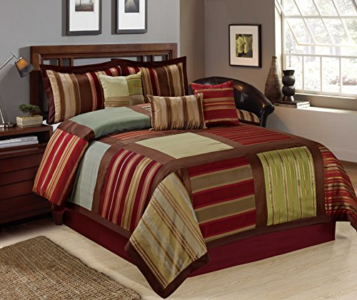7 piece ikat striped pattern patchwork clearance bedding on walmart bedroom furniture clearance id=50674