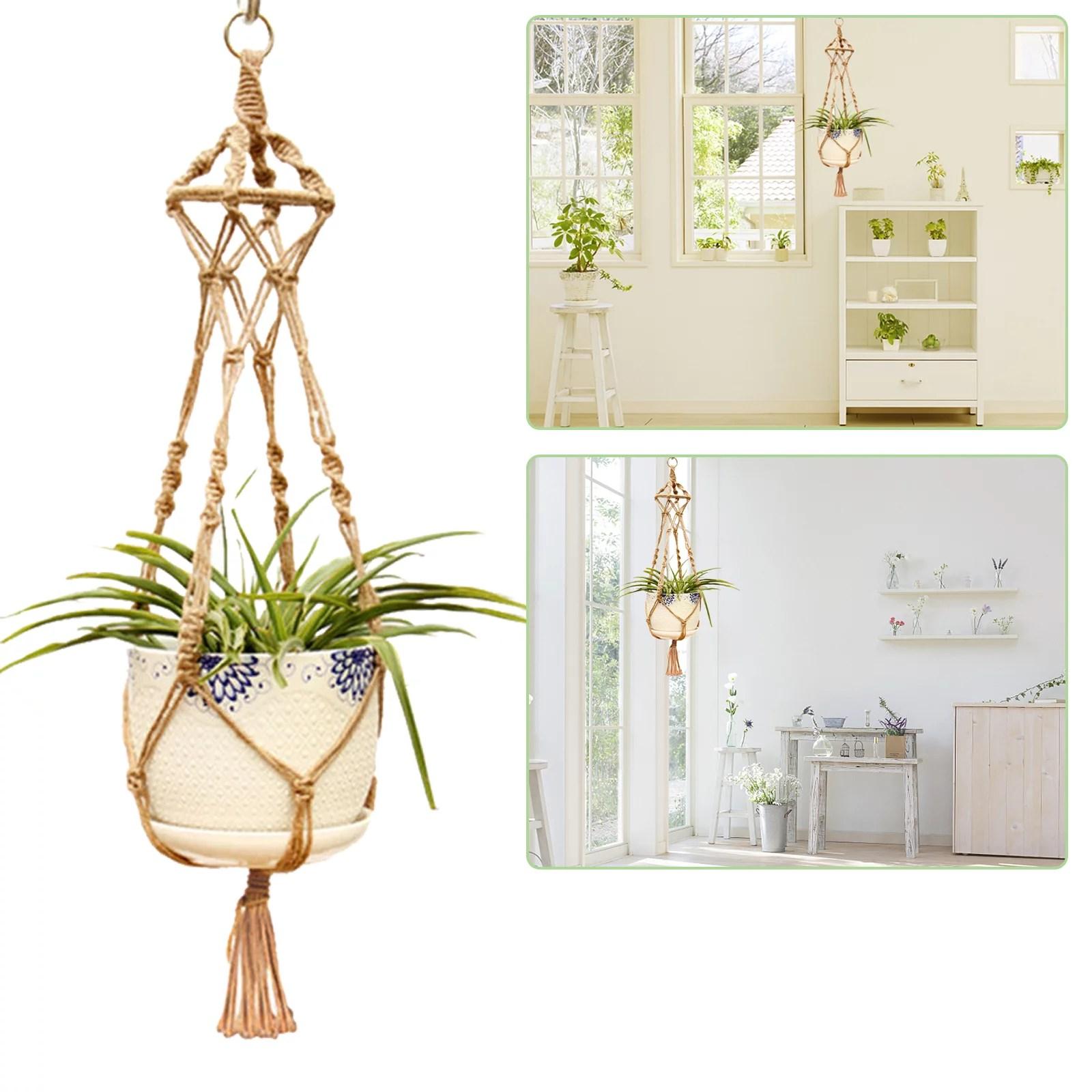 EEEkit Macrame Plant Hangers Indoor Hanging Planter Basket ... on Hanging Plant Pots Indoor  id=82132