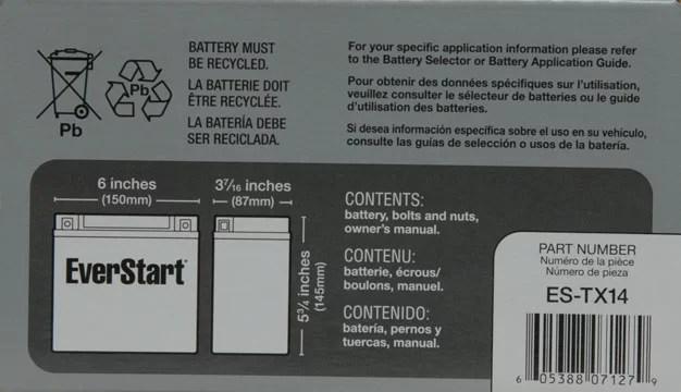 Everstart motorcycle battery guide