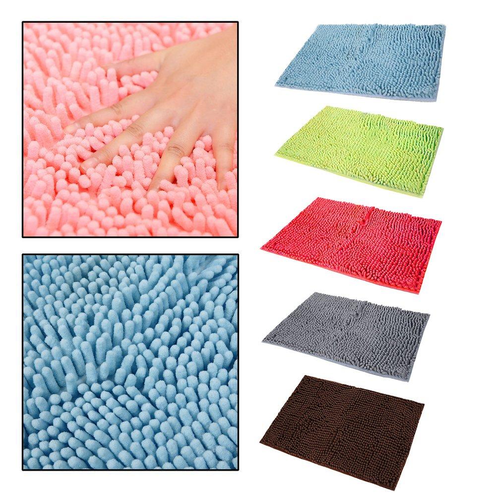 40x60cm large size solid color microfiber chenille on farmhouse colors for bath mats walmart id=70017