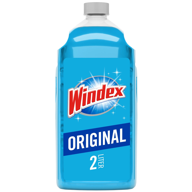 Windex Glass Cleaner Refill, Original Blue, 2 L