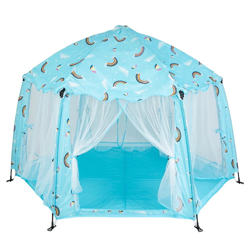 lowestbest kids tent tents for kids outdoor indoor portable princess castle play house for child children easy set up play tent for girls birthday