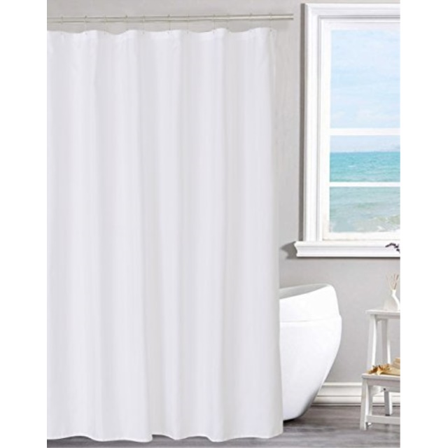 n y home fabric shower curtain liner solid white with magnets hotel quality machine washable 70 x 72 inches for bathroom 70 x72