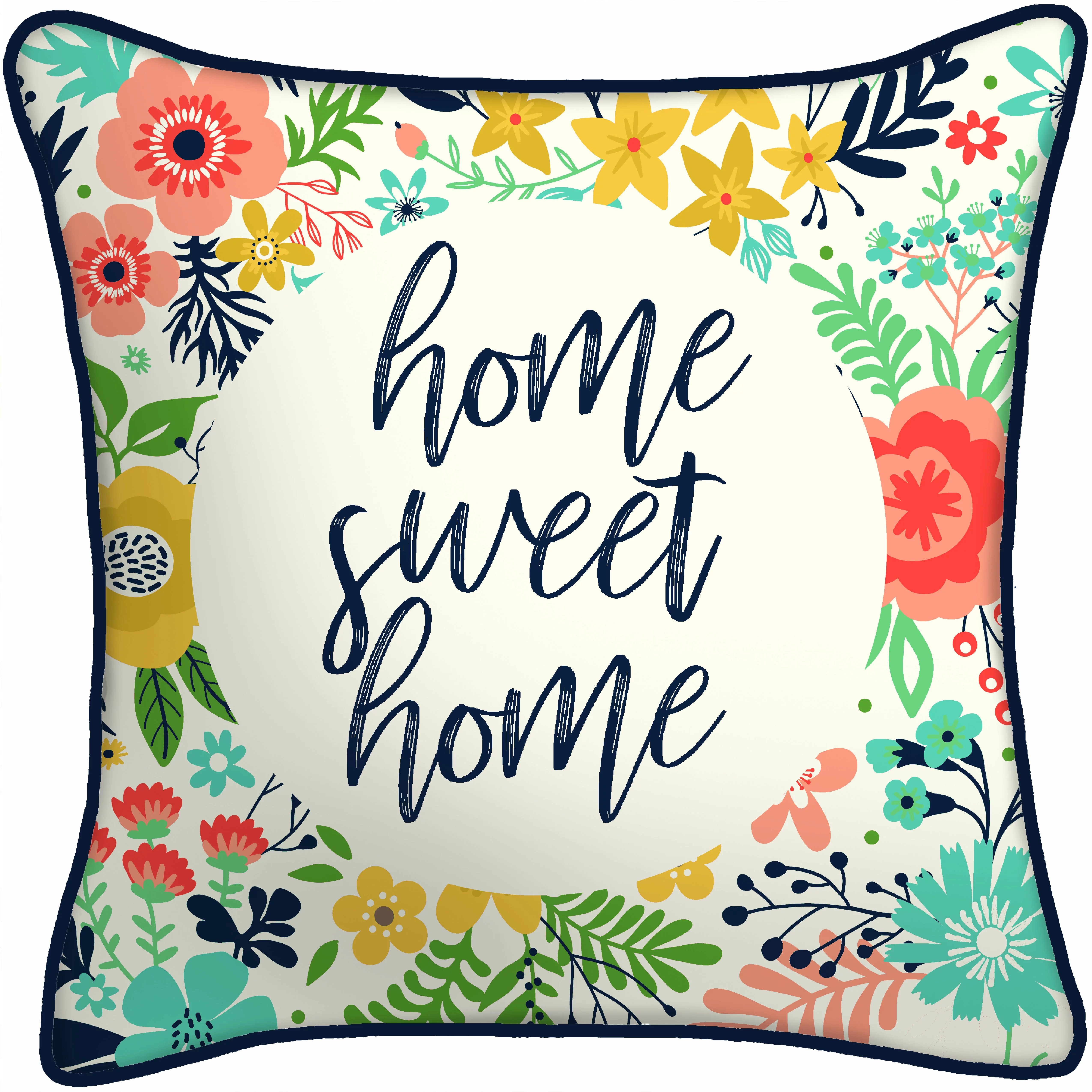 maintays home sweet home blue outdoor pillow