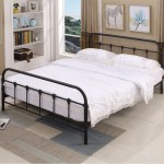 Follure Metal Bed Frame With Black Ball Headboard And Footboard The Rustic Style Walmart Com Walmart Com