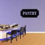 Pantry Vinyl Wall Decal Quote Funny Kitchen Sticker Sinning Room Decor Xj440 Walmart Com Walmart Com