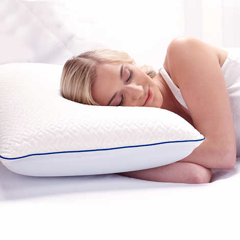 novaform lasting cool gel memory foam pillow queen size contantcool cover technology