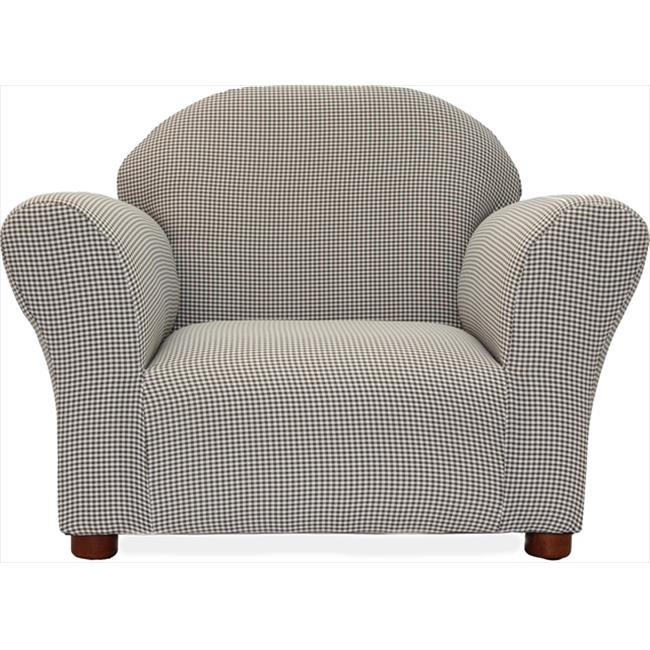 Fantasy Furniture CR19 Fantasy Furniture Roundy Chair Brown Ghingham